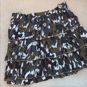 Army Cameo skirt, 3 layers, only worn twice.